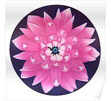 Pink Lotus - Sacred Earth - Univeruse - Heart  Poster