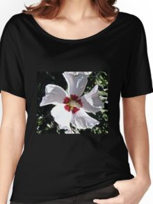 White Hibiscus Women's Relaxed Fit T-Shirt