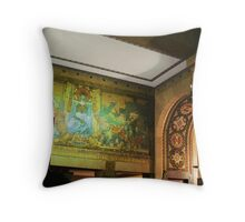 Lobby Mural, Buffalo City Hall Throw Pillow