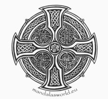 Celtic Cross n2 Dark by Mandala's World
