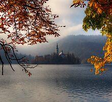 Autumn in Bled by Béla Török