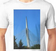 Spire and Cables on a Bridge Unisex T-Shirt