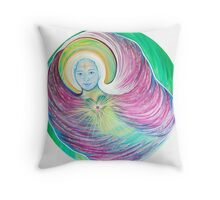 Angel of The Sacred Heart Throw Pillow