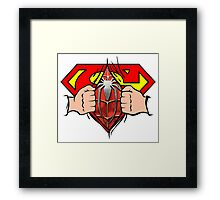 secret superman Framed Print