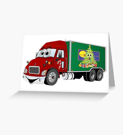 Christmas Delivery Truck Greeting Card