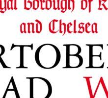 Portobello Rd, London Street Sign Sticker