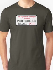 Portobello Rd, London Street Sign T-Shirt