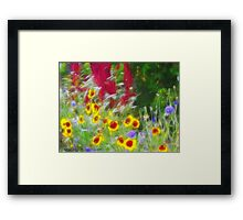 Country Garden Framed Print