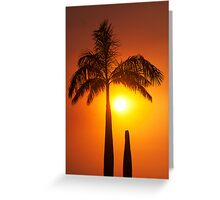 Golden glow - sunset in the tropics. Greeting Card