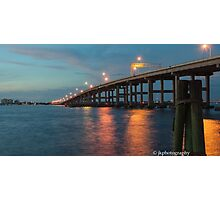Evening at Hancock Bridge  Photographic Print