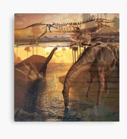 DINOS AMONG US Canvas Print