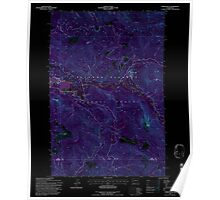 USGS Topo Map Washington State WA Tower Rock 244340 1994 24000 Inverted Poster