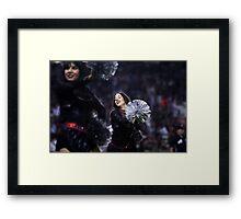 Cheerleader At ball Game  Framed Print