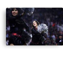 Cheerleader At ball Game  Canvas Print