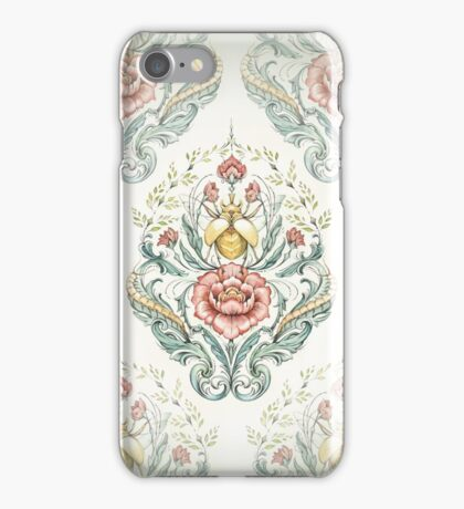 Antique pattern - Beetle and centipedes iPhone Case/Skin