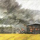 die Scheune brennt by HannaAschenbach