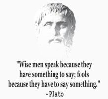 Quote By Plato by Almdrs