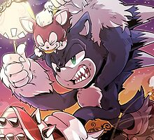 Sonic Werehog Chip Halloween by Metal-Sonic