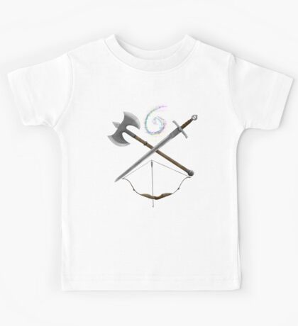 Dungeons & Dragons Weapons Kids Tee