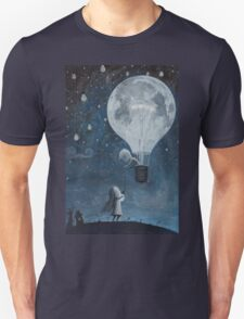 hot air balloon light bulb moon Unisex T-Shirt