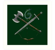 Dungeons & Dragons Weapons Art Print