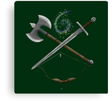 Dungeons & Dragons Weapons Canvas Print