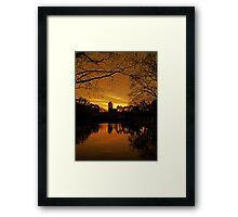 Sunset Over Green Lake Framed Print