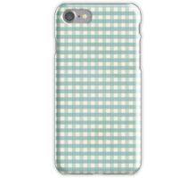 Gingham Tourquise iphone case iPhone Case/Skin