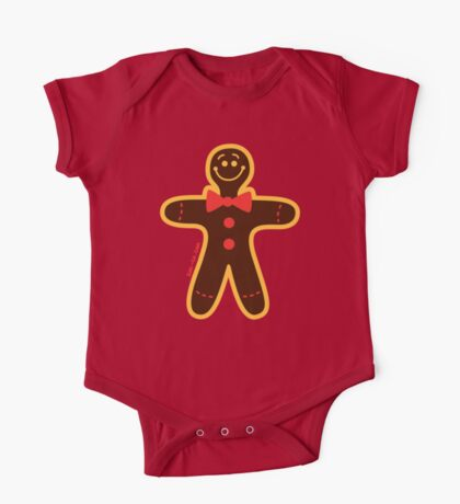 Christmas Cookie Man One Piece - Short Sleeve