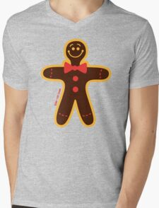 Christmas Cookie Man Mens V-Neck T-Shirt