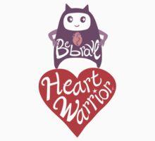 Be Brave Heart Warrior Kids Tee