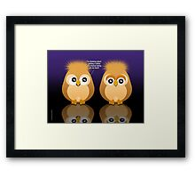 OWL TATTOO Framed Print