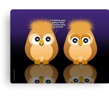 OWL TATTOO Canvas Print