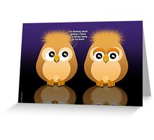 OWL TATTOO Greeting Card