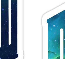 Mini Galactic Doctor Who Logos Sticker
