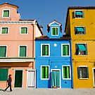 Three colour houses by Federico Del Monte