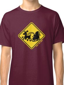 Warning Santa Claus Ahead! Classic T-Shirt