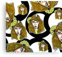 Pencil faces November 2011 Canvas Print