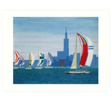 Lake Michigan - Chicago Art Print