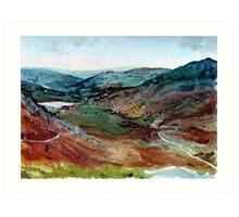 """Lakeland Vista"" - Wrynose Pass, Cumbria, English Lake District Art Print"