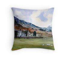 """""""Lambing Season"""" - Farm, Cumbria, The English Lake District Throw Pillow"""