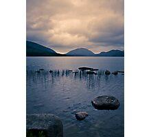Storm Gathering at Eagle Lake, Maine Photographic Print
