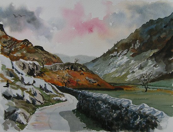 """Lakeland Lane"" - Road to Watendlath, Cumbria, English Lake District by Timothy Smith"