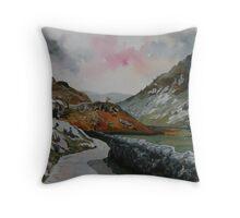 """""""Lakeland Lane"""" - Road to Watendlath, Cumbria, English Lake District Throw Pillow"""