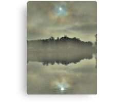 Late Autumn at the lake  Canvas Print