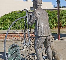 """Penny Farthing """"Time Traveller"""" Statue by Graeme  Hyde"""