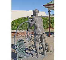 "Penny Farthing ""Time Traveller"" Statue Photographic Print"