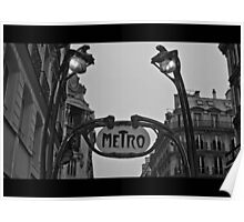 Paris Metro Poster