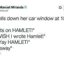 """yay hamlet"" tweet by funhomies"