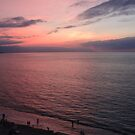 After sunset the bay is reflecting the sky - Despues la puesta del sol la bahía es reflectando el cielo, Puerto Vallarta, Mexico by PtoVallartaMex